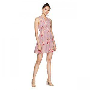 NWT Xhilaration Smocked Mini Dress Medium Mauve